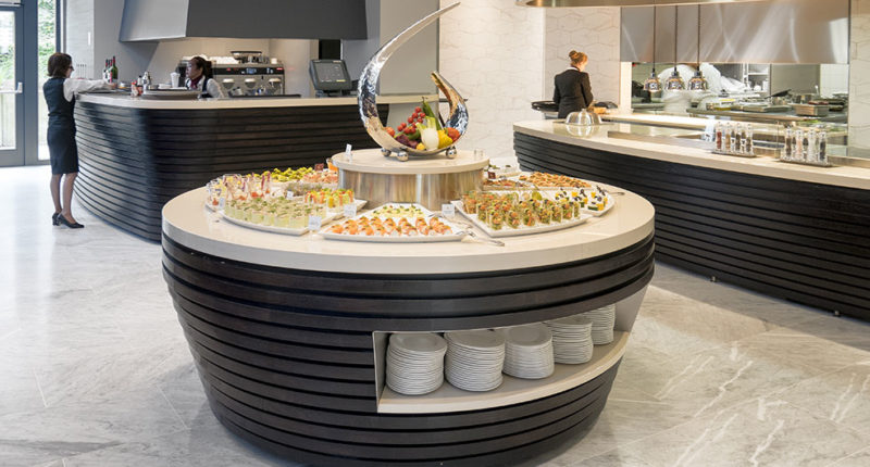 buffet design à l'hôtel royal luxembourg