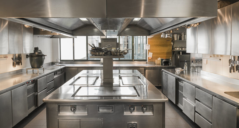 A spacious kitchen at Le Clarence