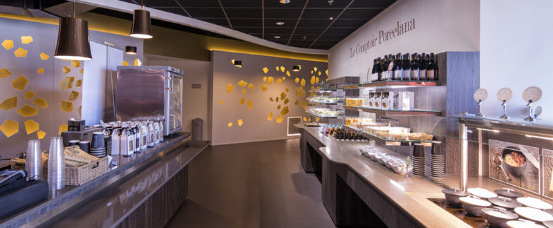 The food line at the Valrhona Cité du Chocolat